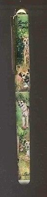 Writing Pen BORDER TERRIER Dog Breed Smooth Rollerball Black Ink Pen Refillable