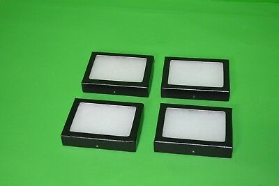 """Lot of 4 New Riker Display Mounting Boxes - 4"""" x 3"""" X 3/4"""" - Cases (size 120)"""