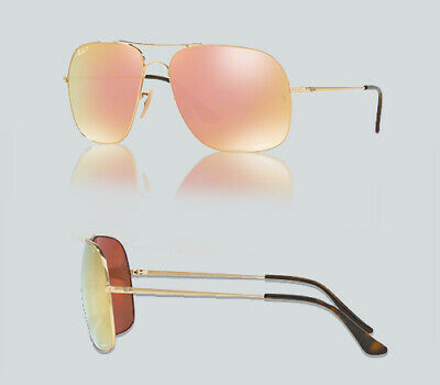 c26440217d9 RAY-BAN - RB3587CH - Gold Frame-Orange Mirror Pink Polarized 61mm ...