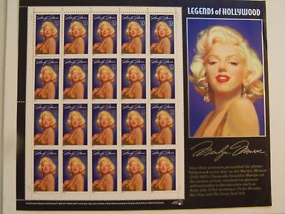 Us Stamp 2967 Marilyn Monroe Mnh Pane Of 20 Legends Of Hollywood .32 Cent Cv $24