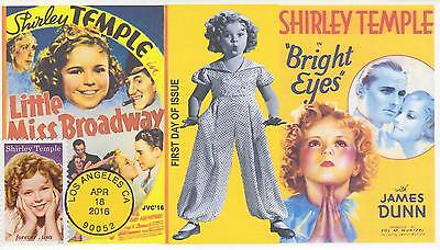 Jvc Cachets-2016 Shirley Temple Issue First Day Cover Fdc Movies Actor Star #3