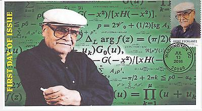 Jvc Cachets-2016 Jaime Escalante Teacher Issue First Day Cover Fdc Hispanic #3