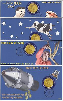 Jvc Cachets-2016 Global Moon Issue First Day Cover Fdc Cow, Apollo 11+ Set Of 4