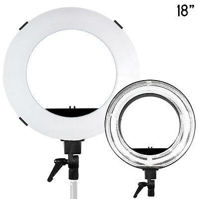 "18"" Ring Light Photography Studio Video Continuous Lighting with Diffuser Cover"