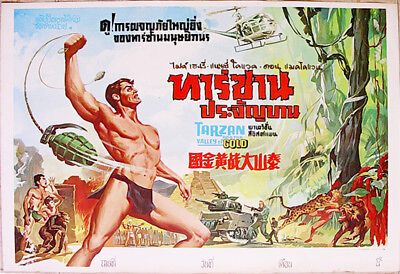 Tarzan and the Valley of Gold (1966) Thai  Movie Poster Original