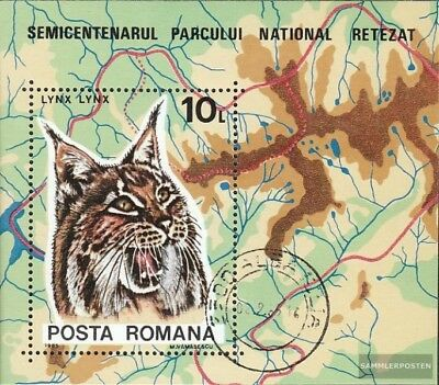 Romania block218 (complete issue) used 1985 Luchs