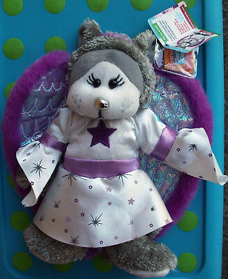 """BEANIE KIDS """"Angelina"""" the Angel cat bear mint with tag red button!"""