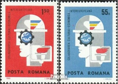 Romania 2764-2765 (complete issue) unmounted mint / never hinged 1969 INTEREUROP