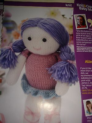 Adorable Soft Rag Doll Knitting Pattern Bria Beautiful Ballerina