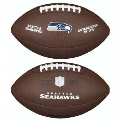 NFL Football Seattle Seahawks Composite Spielball Wilson official full size