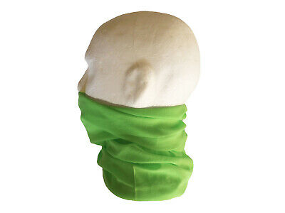 Neck/Face Warmer Tube Bandana Microfibre Green