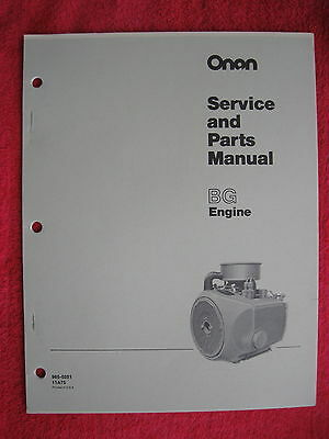 Onan Bg Engine Service & Parts Manual