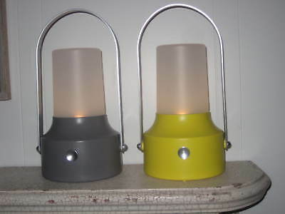 IKEA SOLVINDEN LED SOLAR POWERED LANTERN GRAY YELLOW HURRICANE SEASON New