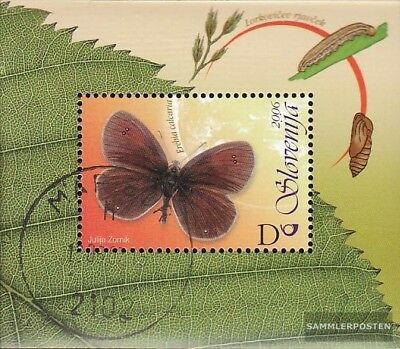 slovenia Block 26 fine used / cancelled 2006 Butterflies