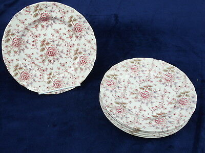 Lot 6 Johnsn Brothers Rose Chintz Mini Made In England Accent Salad Plates