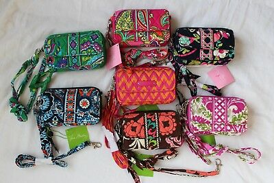 New VERA BRADLEY Lot of 7 ALL IN ONE CROSSBODY Wallet Purse **Small Style**
