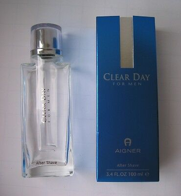 Leere Rasierwasserflasche Aigner Clear Day  100 ml