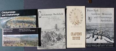 1961-90 Tennessee Chickamauga & Chattanooga Civil War Battlefield 5 brochure set