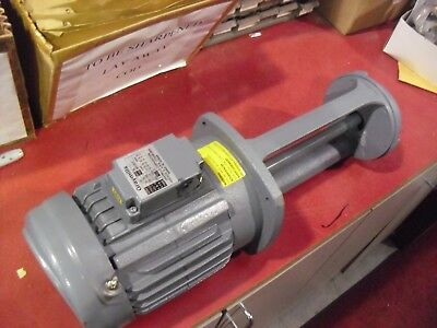 "Gray Mills 1 HP 3 Phase 2 Pole 1"" NPT 3400/2800 RPM Coolant Pump # IMV100-F"