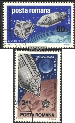 Romania 2779-2780 (complete issue) unmounted mint / never hinged 1969 Spaceships