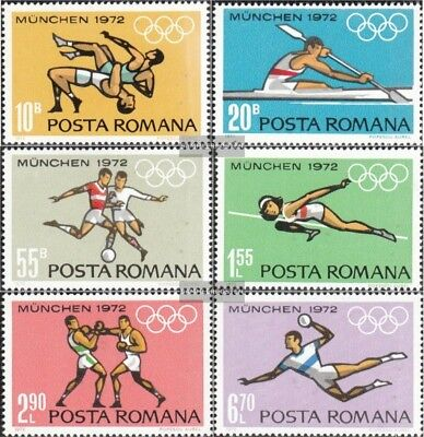 Romania 3012-3017 (complete.issue.) unmounted mint / never hinged 1972 olympic.
