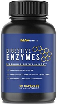 Premium Digestive Enzymes  Probiotics Supplement – All Natural – Stop Bloa