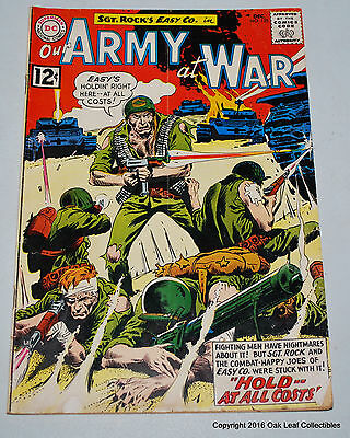 Our Army at War 125 DC Comic book 1962 VG+