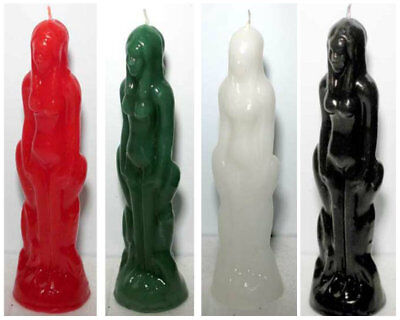 Female Image Figure Candle Human Wicca Spell Pagan Hoodoo - Choose Color!