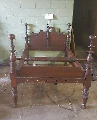 Antique wooden rope bed double size?