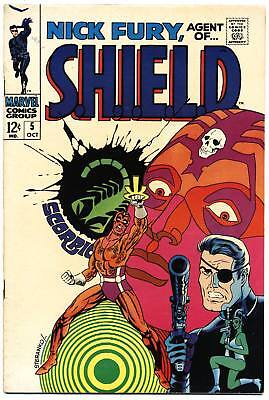 NICK FURY AGENT OF SHIELD #5 VG/F, Jim Steranko, S.H.I.E.L.D. Marvel Comics 1968