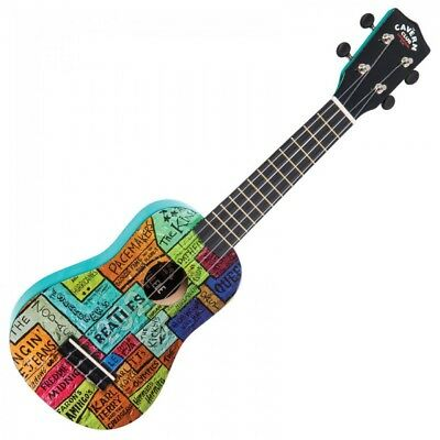 The Cavern Club Ukulele Outfit Cvuk1 - The Wall Design - Inc Bag Pitchpipe Pick