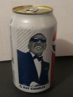 2018 Ray Charles New Canadian Special WHITE Pepsi Soda Can Limited