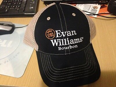 Evan Williams Black  Mesh Trucker Hat Cap NEW Promo Bourbon