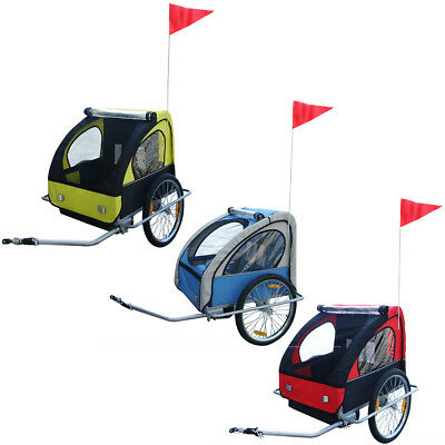 Kids Bike Trailer Child Bicycle Stroller Children Cart Foldable Red/Blue/Yellow