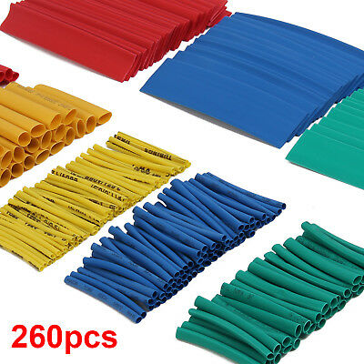 260Pc Car Assorted Electrical Cable Heat Shrink Tube Tubing Wire Wrap Sleeve Kit