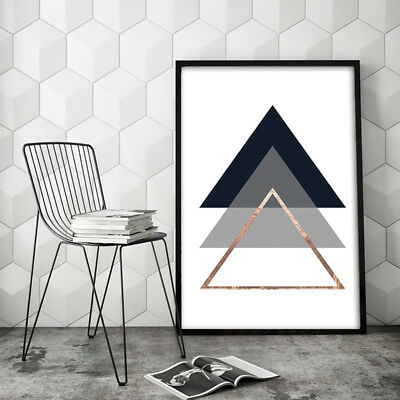 Modern Geometric Triangle Canvas Wall Painting Poster Home Decor Unframed Fashio