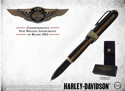 Harley Davidson 110Th Anniversary Retro 51 Bollerball Pen * New In Box *