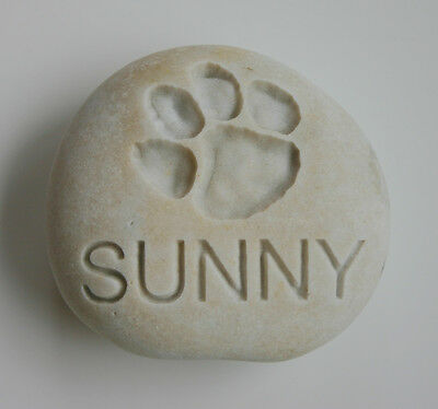 Dog Paw Print Pet Memorial Custom Engraved Memorial Stone Pet Loss Personalized