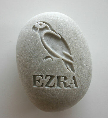 Parrot Pet Memorial Custom Engraved Memorial Stone Pet Loss Personalized Bird