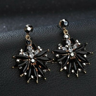 Luxury Clear Crystal Rhinestone Dangle Water Drop Earrings Women Fashion Jewelry