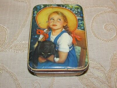 Vintage Edward Sharp & Sons Ltd. Girl And Cat Tin