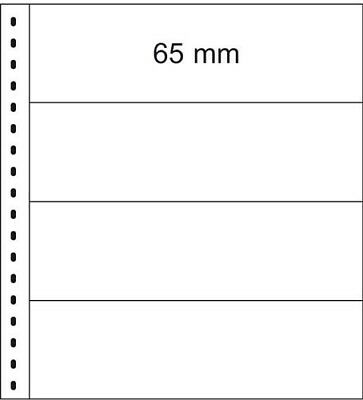 Lindner 832 Crystal clear pages including white backing pages for banknotes - 1
