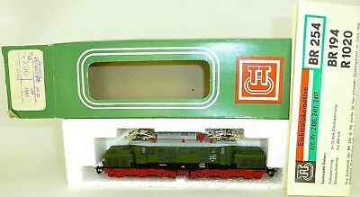 254 065-6 E-LOCOMOTIVE Green M Light TT 1:120 Original Box Manual BTTB 2410 Mint