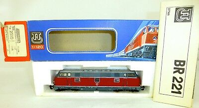 221 139-9 Diesel Locomotive M Light TT 1:120 Original Box Manual BTTB 2510 Mint