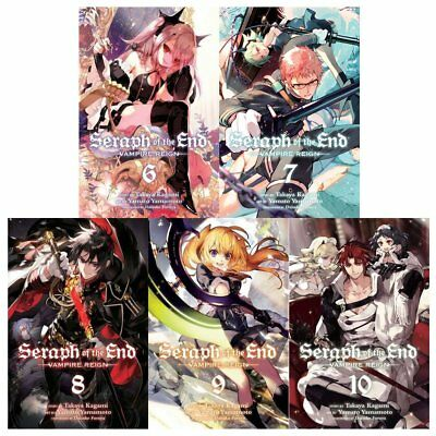 Seraph of the end vampire reigh gn series 2: 5 books Vol 6 to 10 collection set