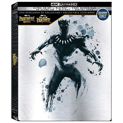 Black Panther Collectible Steelbook [4k UHD + Blu-ray + Digital Marvel Universe]