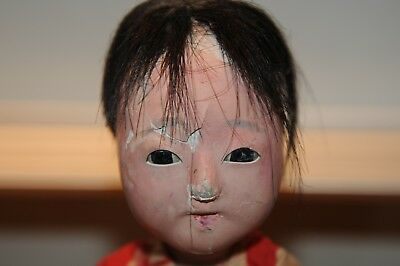 "Japenese Doll 10"" Inch Rare Beauty Asian Vintage Antiques Japan Dolls (1) Old.."