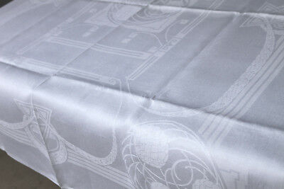 Leinen Damast Tafeltuch - Jugendstil - 167/127 cm um 1900,Antique tablecloth