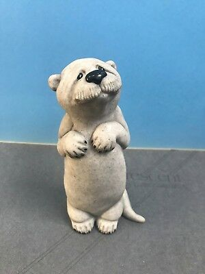 """CUTE Quarry Critters Oscar Otter animal 6"""" Figurine Second Nature Retired 2000"""