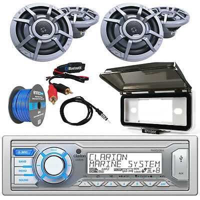 "Single Din CD/USB/MP3/WMA Bluetooth Receiver, 6.5"" Speakers,Wire, Cover, Antenna"